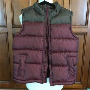 Gymboree Puffer Vest Maroon & Brown Size 5/6 Nwot.
